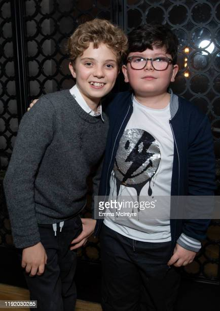 Archie Yates and Roman Griffin Davis attend the after party for the special screening of Momentum Pictures' 'A Million Little Pieces' on December 04...