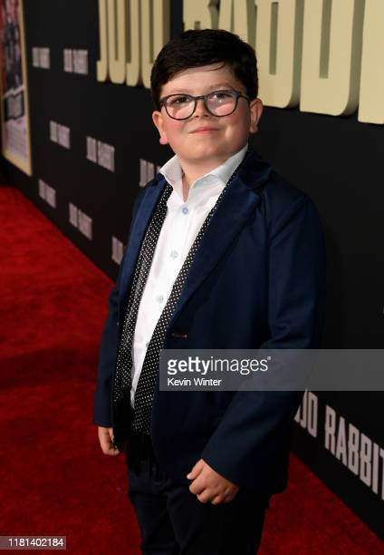 Archie Yates arrives at the premiere of Fox Searchlights' Jojo Rabbit at the American Legion Hall Post 43 on October 15 2019 in Los Angeles California