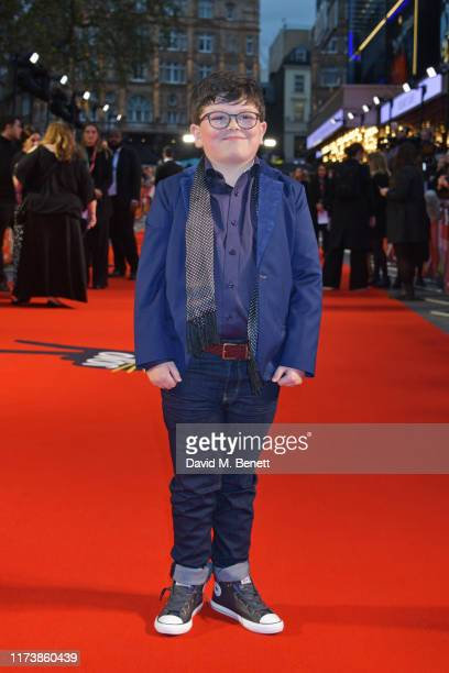 Archie Yates attends the European Premiere of Jojo Rabbit during the 63rd BFI London Film Festival at Odeon Luxe Leicester Square on October 5 2019...