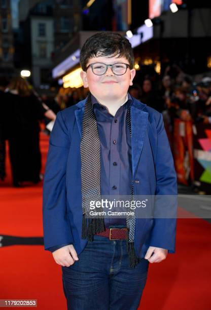 Archie Yates attends the JoJo Rabbit European Premiere during the 63rd BFI London Film Festival at Odeon Luxe Leicester Square on October 05 2019 in...