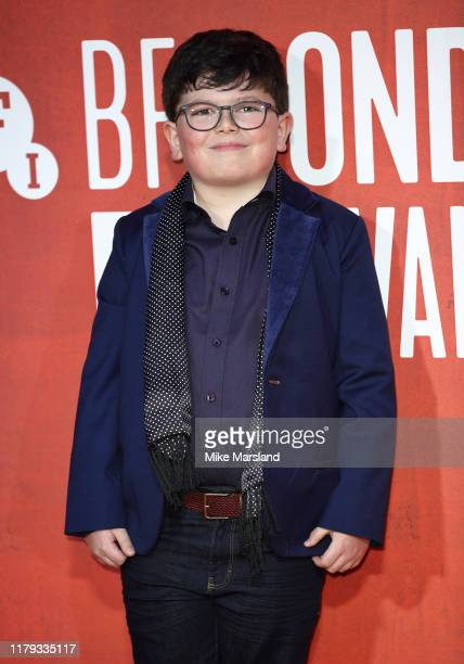 Archie Yates attends the JoJo Rabbit European Premiere during the 63rd BFI London Film Festival at the Odeon Luxe Leicester Square on October 05 2019...