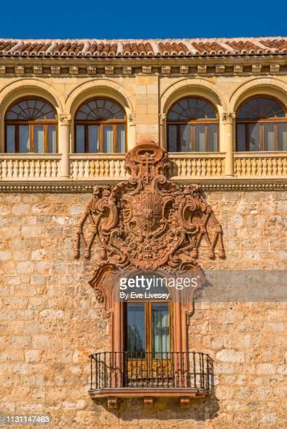 archiepiscopal palace of alcalá de henares - alcala de henares stock pictures, royalty-free photos & images
