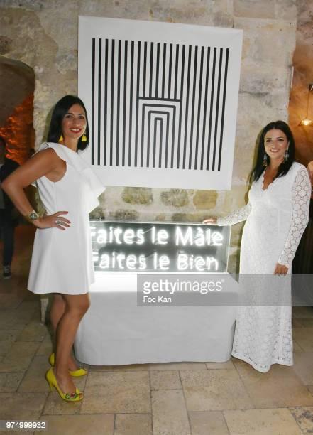 Archiman directors Karine Coccellato and Stephanie Coccellato attend the Archiman Men Body Care Launch Party at 22 Rue de L'Universite on June 14...
