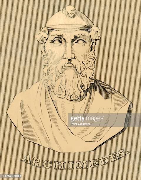 """Archimedes', , 1830. Archimedes of Syracuse Greek mathematician, physicist, engineer, inventor, and astronomer. From """"Biographical Illustrations"""", by..."""