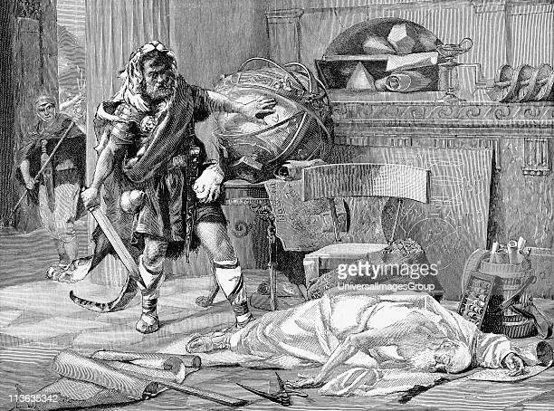 Archimedes Ancient Greek mathematician and inventor The death of Archimedes at the capture of Syracuse by the Romans Engraving of late 19th century...