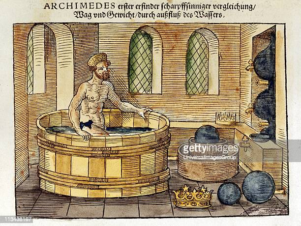 Archimedes Greek mathematician and inventor in his bath Discovered formulae for calculating areas and volumes of plane and solid figures Hydrostatics...