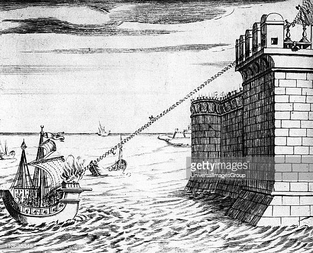 Archimedes Greek mathematician and inventor Reconstruction of Archimedes' burning mirror supposed to have been designed to burn Roman fleet attacking...