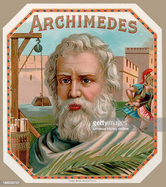 Archimedes Of Syracuse Circa 287 Bc To Circa 212 Bc Greek Mathematician Physicist And Engineer From Cigar Box Label Printed Circa 1900