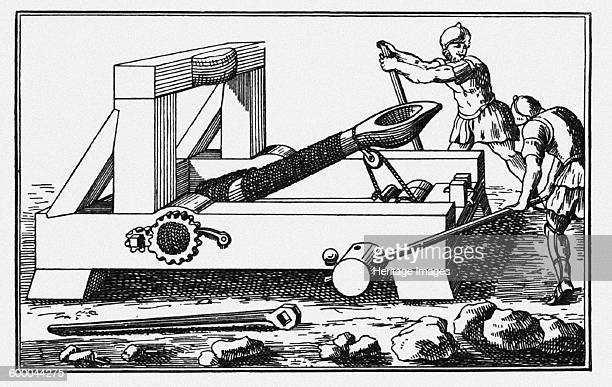 Archimedes Siege Catapult From The Histories by Polybius 1727 Private Collection Artist Anonymous