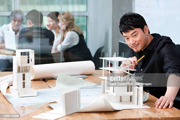 Architect and architectural model