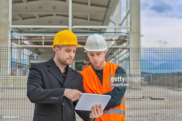 Arquitecto y Trabajador de construcción