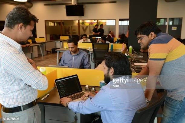 Architect and testing team of Activeai discussing on Interface Activeai is a service platform that connects consumers with their banks Lets say you...
