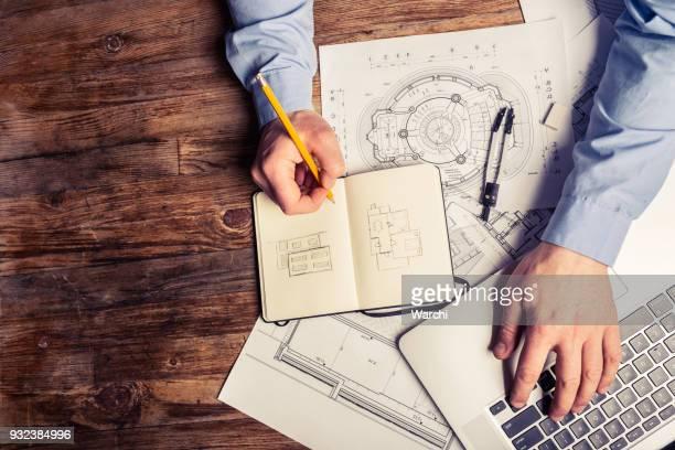 Architect op het werk