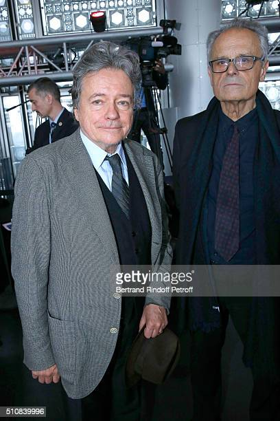 Architect Christian de Portzamparc and Guest attend King Mohammed VI of Morocco and French President Francois Hollande present the project to create...