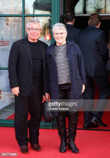 Architect Daniel LIbeskind and wife Nina poses during the Steiger Award at Coal Mine Hansemann Alte Kaue on March 25 2017 in Dortmund Germany