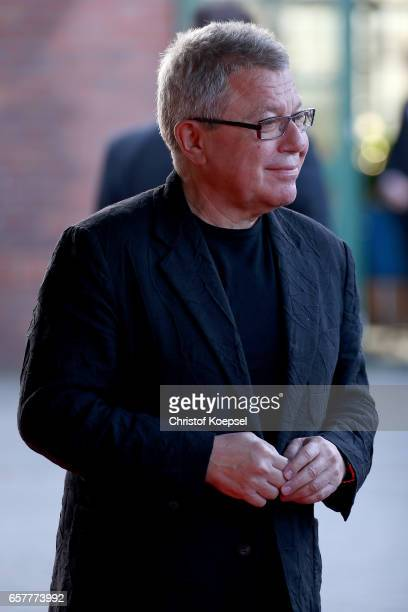 Architect Daniel LIbeskind poses during the Steiger Award at Coal Mine Hansemann Alte Kaue on March 25 2017 in Dortmund Germany