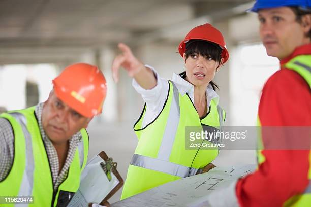 Architect discussing construction