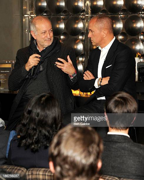 Architect Enrique Norten and hotelier Carlos Couturier attend the Surface Magazine And Microsoft's Surface 2 Present Design Dialouges No. 4 on...