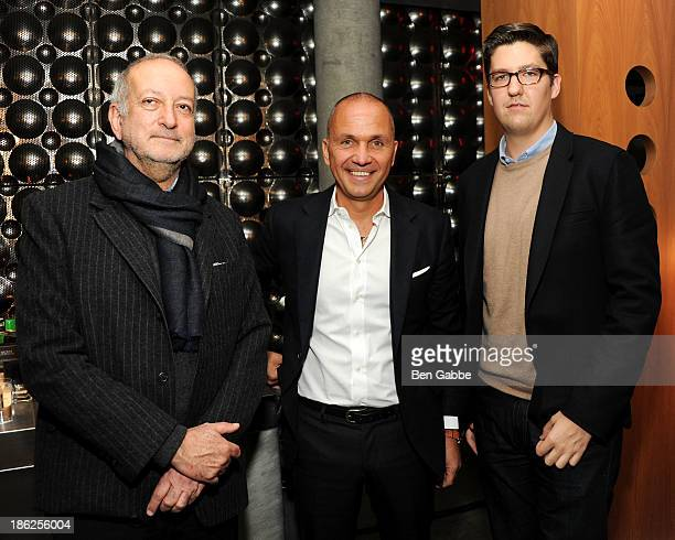 Architect Enrique Norten, hotelier Carlos Couturier and Spencer Bailey attend the Surface Magazine And Microsoft's Surface 2 Present Design Dialouges...
