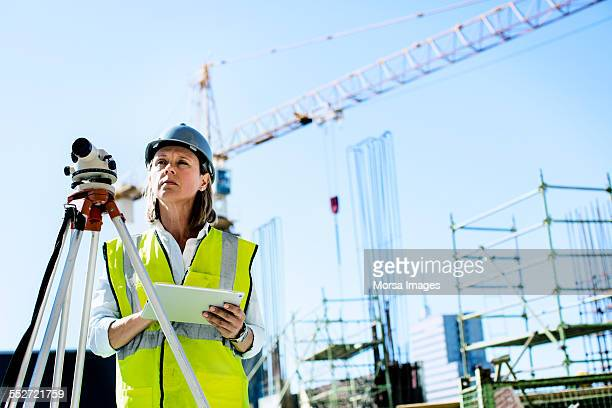 Architect examining construction site