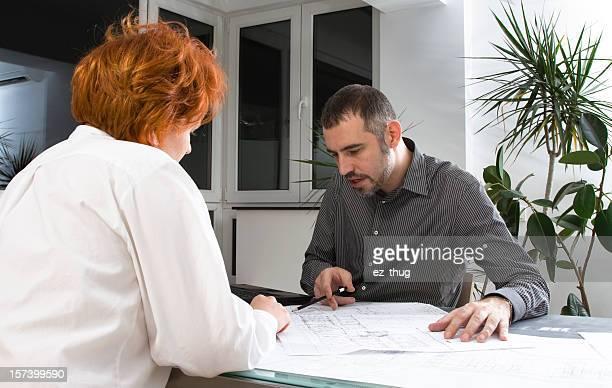 Architekt erklären, den Kunden