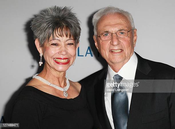 """Architect Frank Gehry and wife Berta Gehry attend the Los Angeles Philharmonic """"Rhapsody in Blue"""" opening night gala at Walt Disney Concert Hall on..."""