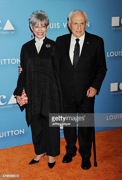 Architect Frank Gehry and wife Berta Isabel Aguilera arrive at the 2015 MOCA Gala presented by Louis Vuitton at The Geffen Contemporary at MOCA on...