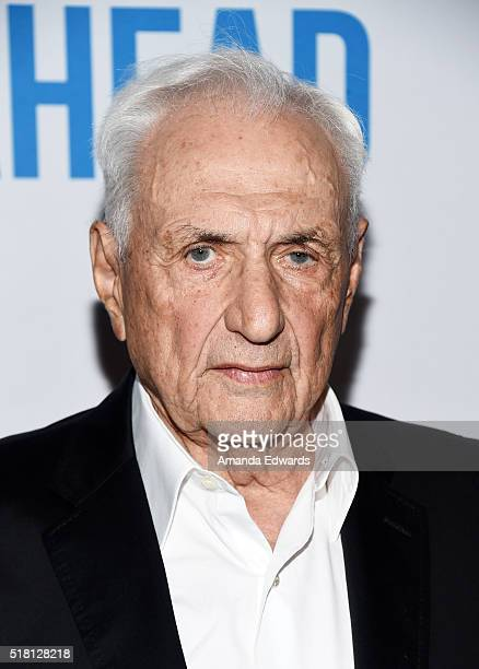 """Architect Frank Gehry arrives at the premiere of Sony Pictures Classics' """"Miles Ahead"""" at the Writers Guild Theater on March 29, 2016 in Beverly..."""