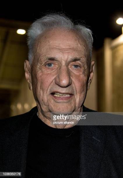 Architect Frank Gehry attends a Los Angeles World Affairs Council Special Event on the occasion of a major retrospective of his work currently on...