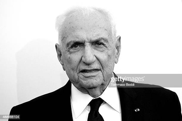 Architect Frank Gehry attends the Broad Museumblack tie inaugural dinner held at The Broad on September 17 2015 in Los Angeles California