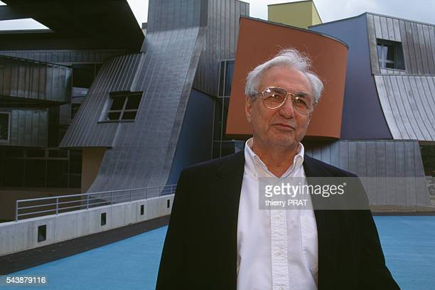 Architect Frank Gehry during the Vitra building inauguration   Location Birsfelden Germany