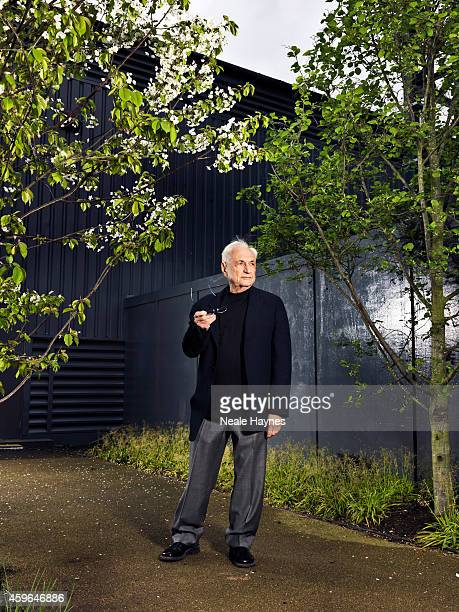 Architect Frank Gehry is photographed for ES magazine at Battersea Power station where a housing scheme he has designed will be built alongside one...