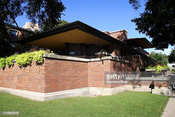 Architect Frank Lloyd Wright's Frederick C Robie House on the University Of Chicago Campus in Chicago Illinois on SEPT 07 2011