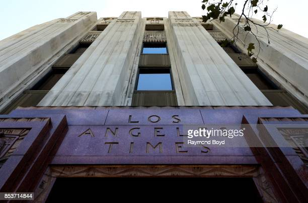 Architect Gordon Kaufmann's Los Angeles Times Building in Los Angeles California on September 10 2017 MANDATORY MENTION OF THE ARTIST UPON...