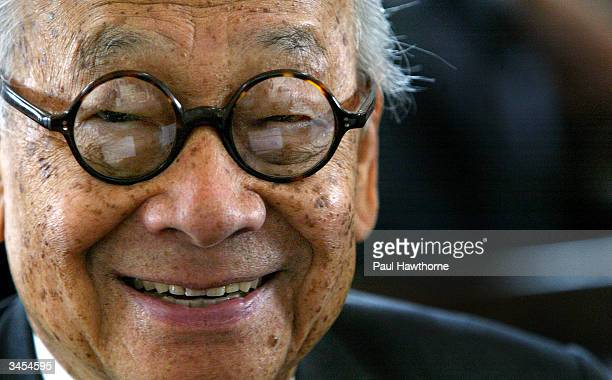 Architect IM Pei Smiles for a photo after being honored with an Ellis Island Family Heritage Awards at the Ellis Island Museum on April 21 2004 in...