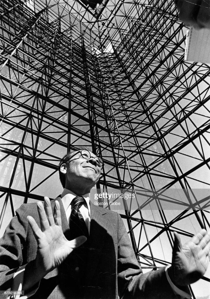 Architect I.M. Pei At JFK Library : News Photo