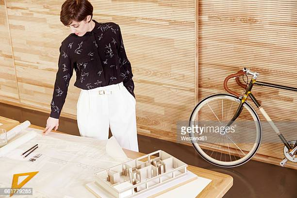 Architect in an office