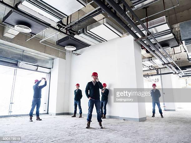 建築家で construction--multiple exposur