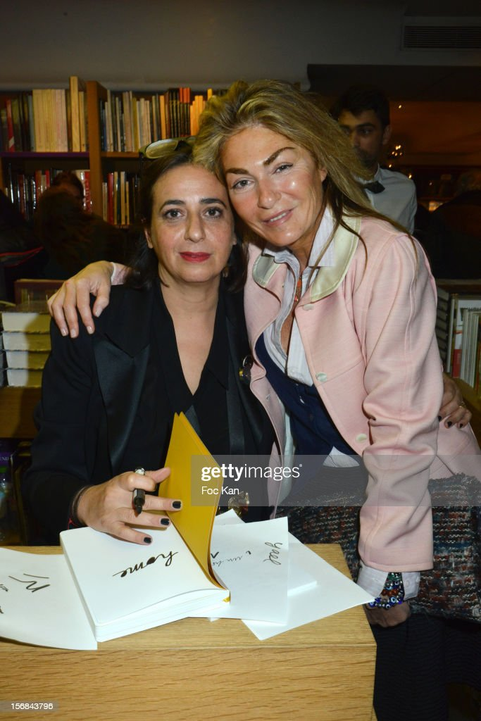 Architect India Mahdavi and her cousin stylist Maryam Mahdavi attend 'Home' India Madhavi and Soline Delos Book Launch at Musee Arts Decoratif Bookshop on November 22, 2012 in Paris, France.