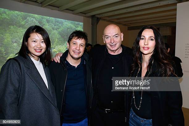 Architect Jean Nouvel wieth his wife Lida Guan and Contemporary artist Adel Abdessemed with his wife Julie attend the 'Jean Nouvel and Claude Parent...