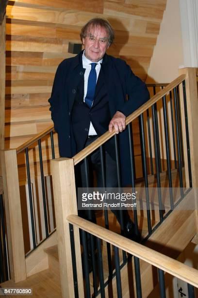 Architect JeanMichel Wilmotte attends Members of the Stephane Bern's Foundation for 'L'Histoire et le Patrimoine' visit the 'College Royal et...