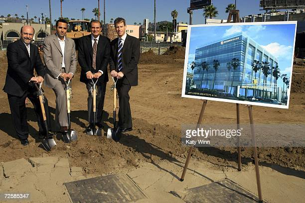 Architect Jeff Cooper Technicolor President Ahad Ouri CEO of Sunset and Gower Robert Papazian and Andrew Tainiter attend the Sunset Gower Studios...