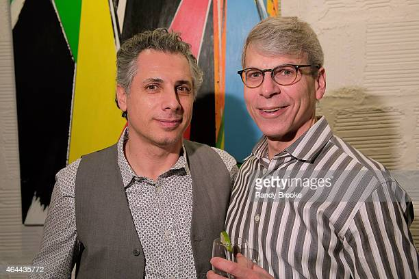 Architect Lester Tour and Scott attend FilmRise Celebrates new office in Industry City Brooklyn at FilmRise on February 25 2015 in Brooklyn New York