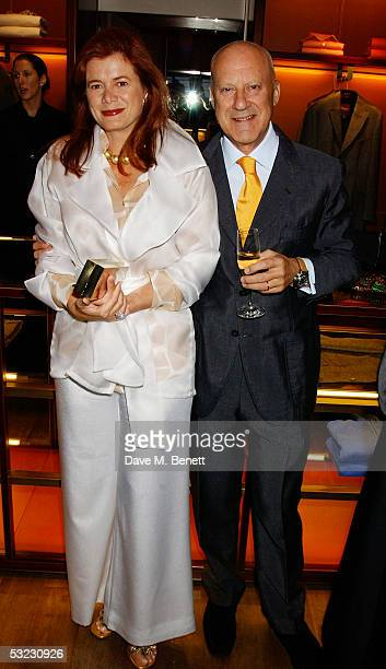 Architect Lord Norman Foster and his wife Elena Ochoa attend Renee Fleming's private Asprey dinner party at Asprey's flagship store in Bond Street...