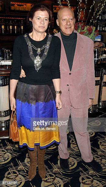 Architect Lord Norman Foster and his wife Elena Ochoa attend the after show party following the UK Premiere of 'The White Countess' at China Tang on...