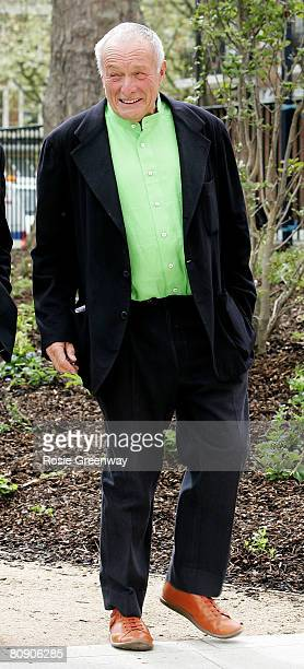 Architect Lord Rogers arrives at the official opening of the first branch outside Scotland of cancer care home Maggie's Centre on April 29 2008 in...