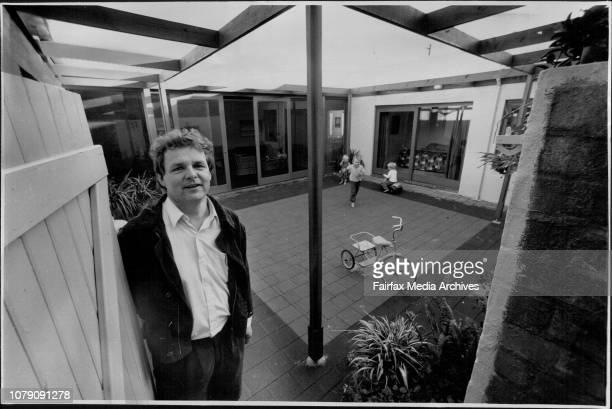 Architect Mr Tone Wheeler with the house that he designed incorporating a central courtyard rather than a backyard The House is No 17 Pyalla St...