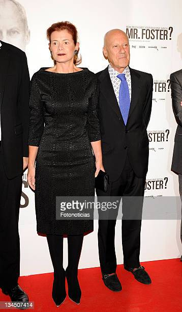 Architect Norman Foster and Elena Ochoa Foster attend 'How Much Does Your Building Weigh Mr Foster' premiere at the Verdi Cinema on October 5 2010 in...