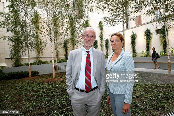 Architect od the Foundation Renzo Piano and his wife Milly attend the 'Jerome Seydoux Pathe Foundation' Opening party on September 4 2014 in Paris...