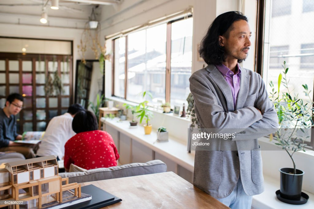 Architect Or Designer Thinking : Stock Photo